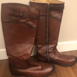 Leather Frye boots